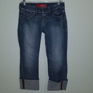 Guess cuffed cropped jeans